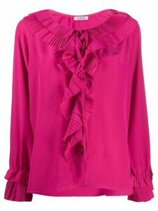P.A.R.O.S.H. pleated ruffle blouse - PINK