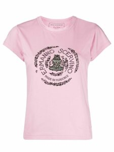 Ermanno Scervino crystal-embellished crew neck T-shirt - PINK
