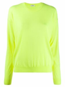 P.A.R.O.S.H. slouchy round neck jumper - Yellow