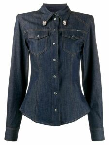 Dolce & Gabbana slim fit denim shirt - Blue