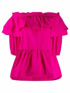 P.A.R.O.S.H. Plaff ruffled blouse - PINK