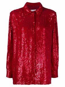 P.A.R.O.S.H. Gummy sequin shirt - Red