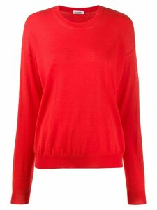 P.A.R.O.S.H. slouchy round neck jumper - Red