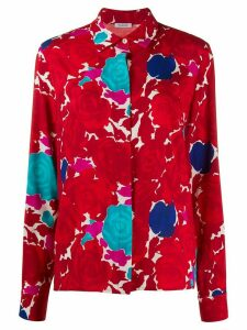 P.A.R.O.S.H. loose fit floral print shirt - Red