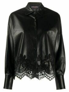 Ermanno Scervino lace-trimmed jacket - Black