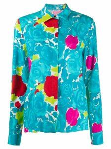 P.A.R.O.S.H. loose fit floral print shirt - Blue