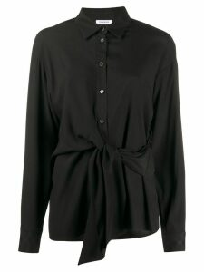 P.A.R.O.S.H. pointed collar tie-waist shirt - Black