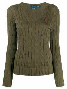 Polo Ralph Lauren logo embroidered jumper - Green