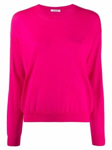 P.A.R.O.S.H. slouchy round neck jumper - PINK