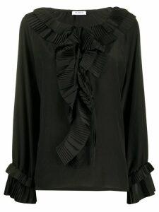 P.A.R.O.S.H. pleated ruffle blouse - Black