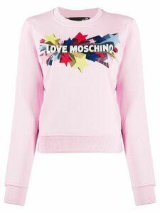 Love Moschino logo print sweatshirt - PINK