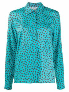 P.A.R.O.S.H. loose fit floral print blouse - Blue