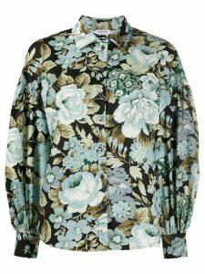 P.A.R.O.S.H. Corus floral shirt - Black