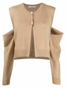 Dorothee Schumacher cold shoulder cardigan - NEUTRALS