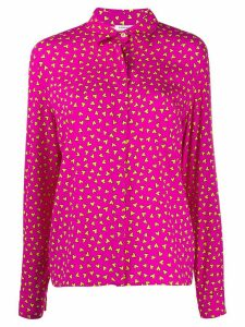P.A.R.O.S.H. loose fit heart print shirt - PINK