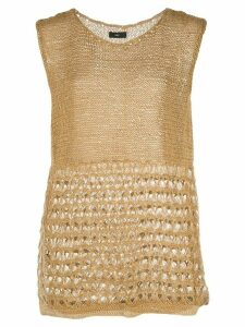 Voz sleeveless knitted top - Brown