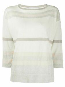 Fabiana Filippi stripe print jumper - White