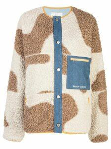 Sandy Liang Dairy fleece jacket - NEUTRALS