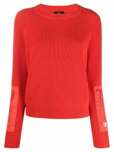 Elisabetta Franchi long-sleeve fitted jumper - Red