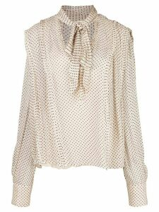 Jason Wu Collection polka dot tied blouse - NEUTRALS