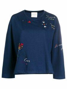 Forte Forte embroidered detail jumper - Blue