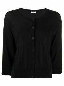 P.A.R.O.S.H. fine knit cropped cardigan - Black