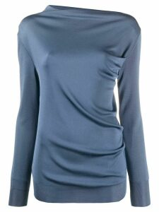 Nina Ricci fitted draped effect sweatshirt - Blue