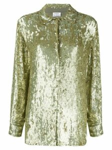 P.A.R.O.S.H. sequin embellished shirt - GOLD