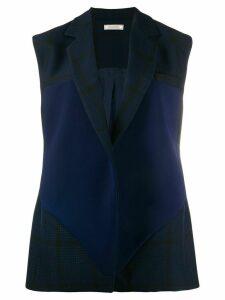 Nina Ricci sleeveless checked blazer - Blue