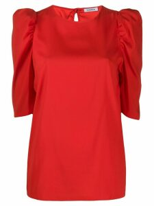 P.A.R.O.S.H. puff sleeve blouse - Red