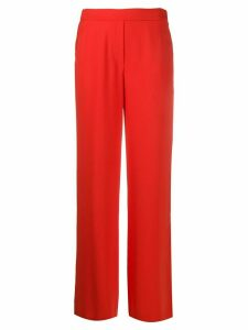 P.A.R.O.S.H. high-waisted wide leg trousers - Red