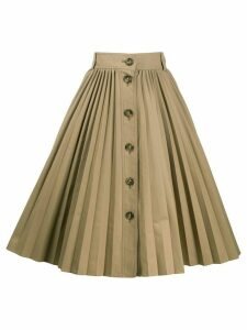 RedValentino pleated mid-length skirt - NEUTRALS