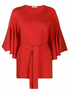 P.A.R.O.S.H. tie-waist blouse - Red
