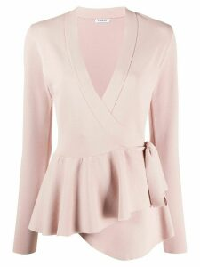 P.A.R.O.S.H. ruffle trimmed wrap top - PINK