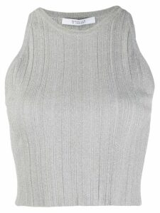 Derek Lam 10 Crosby Rheya Rib Knit Crop Top - SILVER