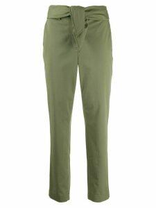 Derek Lam 10 Crosby Leda Tie Waist Relaxed Twill Trousers - Green