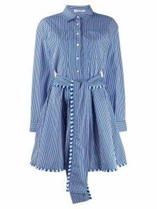 Derek Lam 10 Crosby striped shirt dress - Blue