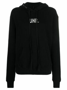 Unravel Project knitted logo hoodie - Black