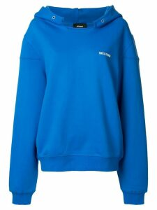 We11done logo printed hoodie - Blue