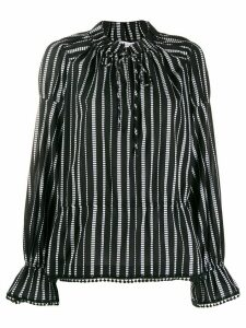 Derek Lam 10 Crosby Calypso Diamond Striped Blouse - Black
