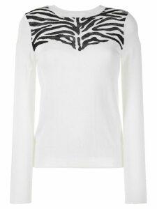 Derek Lam 10 Crosby Thea Zebra jumper - White