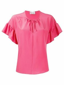 RedValentino ruffle sleeve blouse - PINK