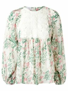 Giambattista Valli floral print tunic top - White