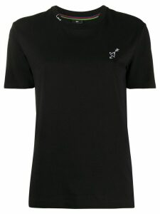PS Paul Smith heart embroidered fitted T-shirt - Black