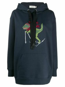 Coach embroidered detail hoodie - Blue