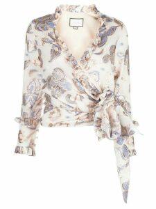 Alexis Marceau wrap-style top - White