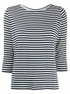 Majestic Filatures striped 3/4 sleeve T-shirt - Blue