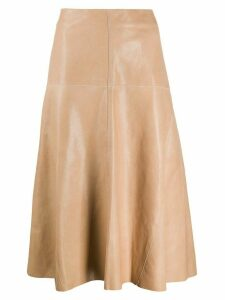 Arma Fairchild A-line midi skirt - NEUTRALS