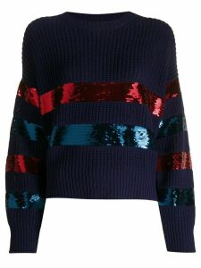 Philosophy Di Lorenzo Serafini sequin stripe chunky knit cotton jumper