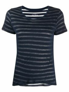 Majestic Filatures striped overlay cotton T-shirt - Blue